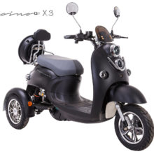 vespino x3 dreirad 20 km h ohne f hrerschein elektro scooter. Black Bedroom Furniture Sets. Home Design Ideas