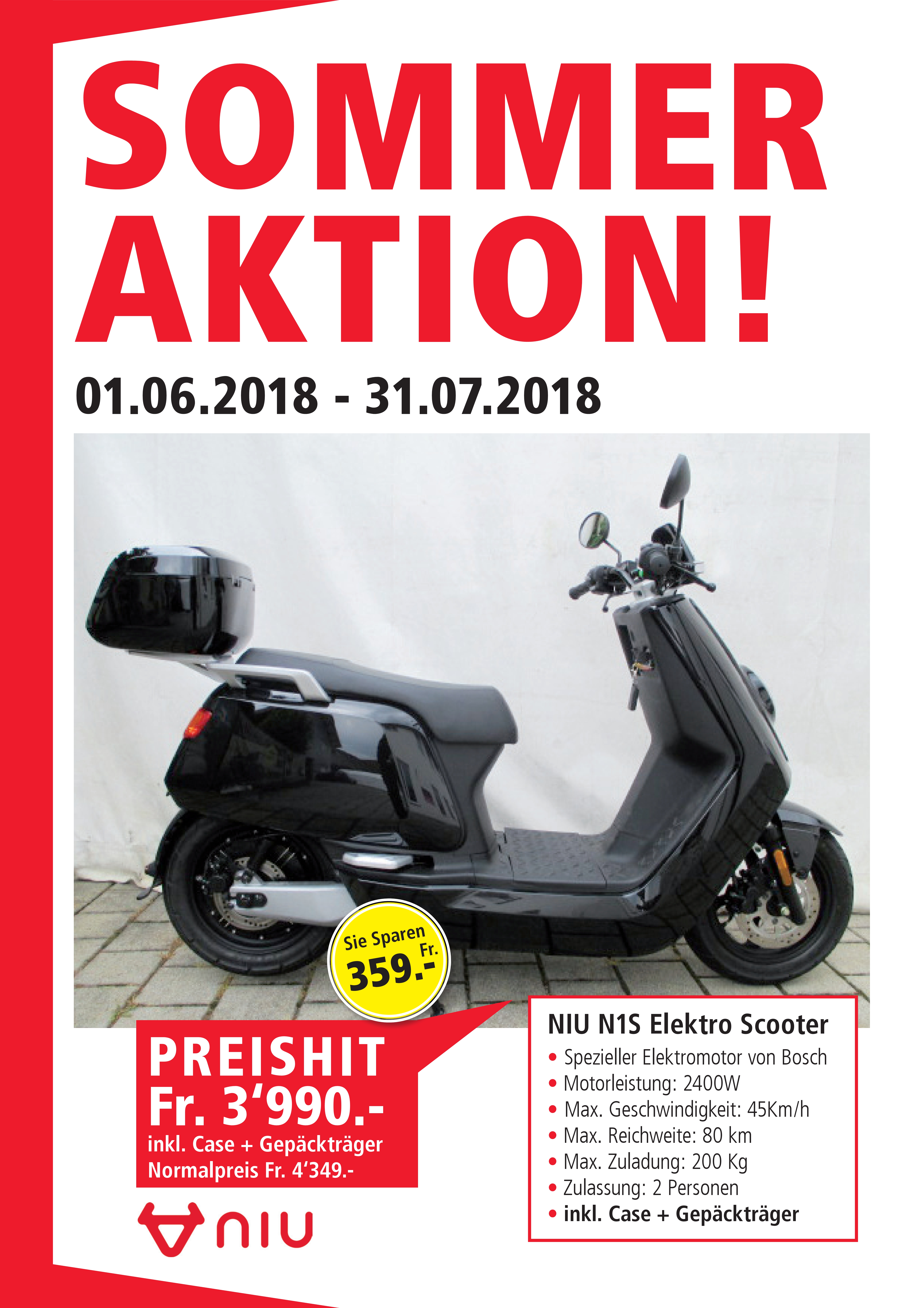 niu elektroroller 45 km h helmpflicht elektro scooter. Black Bedroom Furniture Sets. Home Design Ideas